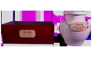 Basic Memorial Individual Cremation Imported Box Or Ivory Ceramic Urn