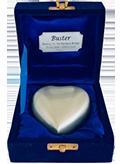 TINY PET Silver Heart in Velvet Box