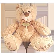 TINY PET PREM 11 TEDDY BEAR URN IN TWIST OR SUPER SOFT PLUSH