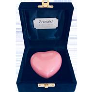 KEEPSAKE PINK HEART IN VELVET BOX