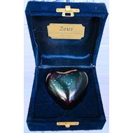 KEEPSAKE RAKI HEART IN VELVET BOX