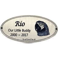 OVAL PLAQUE WITH PHOTO