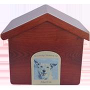 PREMIUM 17: INDIVIDUAL CREMATION – IMPORTED WOOD DOG HOUSE BOX