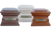 Premium 4: Individual Cremation – Walnut, Tassy Oak & Rosewood Stained Beechwood Solid Timber Urns