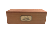 Tiny Pet Gold Memorial Oak Box