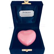 TINY PET PINK HEART IN VELVET BOX