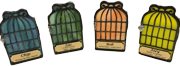 TINY PET STAINED GLASS BIRD CAGE